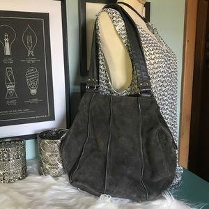 Beautiful grey suede Tignanello bag